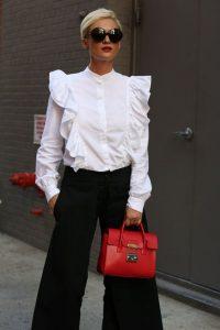 Ruffled Shirt New York Fashion Week