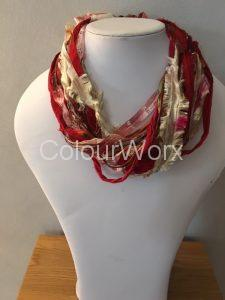 Autumn colours hand made silk necklace £17.95 reduced to £13.95