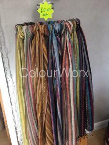 Striped scarves £5.00 each
