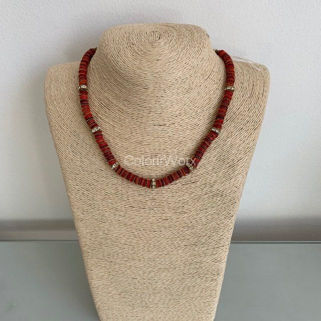 Coral Disk Necklace