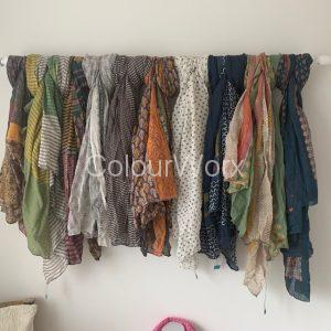 Hand Painted Cotton Indian Scarves