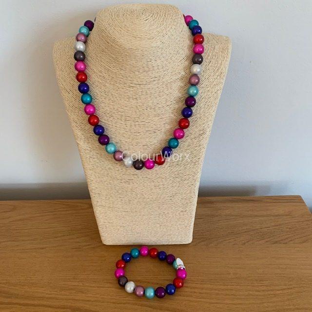 Beaded Necklace & Bracelet Winter