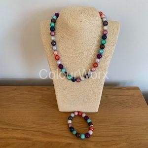 Beaded Necklace & Bracelet Summer
