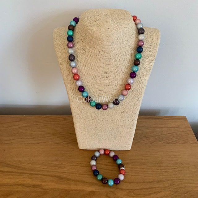 Beaded Necklace & Bracelet Summer