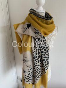 Scarf Mustard Tiger Print