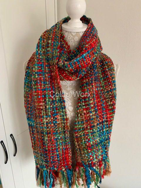 Winter Scarf - Spring Colours