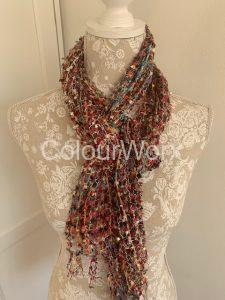 Scarf Fine soft knit in Pink tones £15.00