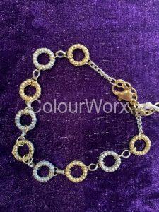 Silver & Gold three ring bracelet