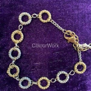 Silver & Gold three ring bracelet