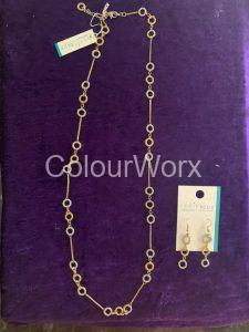 Silver & Gold three ring necklace