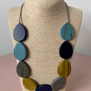 9 Disk Wooden Necklace