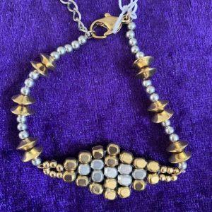 Adjustable gold & Silver bracelet