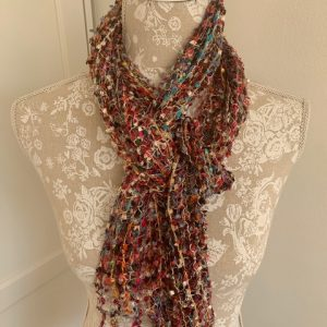 Woven Scarf Pink Tones